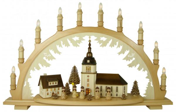 Lenk & Sohn - Schwibbogen Dorfkirche, Kurrende natur