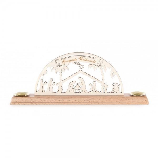 Dregeno Erzgebirge - Miniatur-Schwibbogen Christi Geburt - 9cm