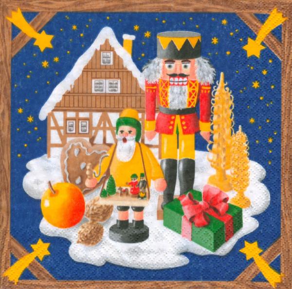 Dregeno Erzgebirge - Servietten Weihnachtsland (20)