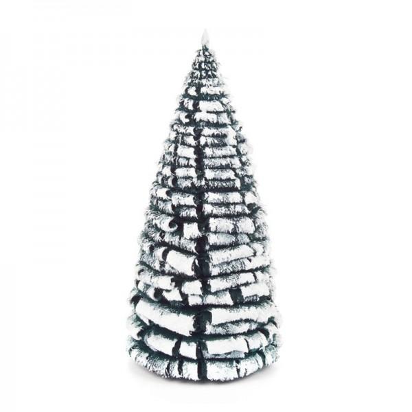 Dregeno Erzgebirge - Miniatur-Rauhreifbaum, grün/weiß, 14 cm