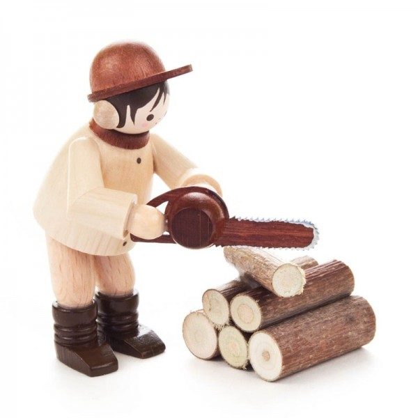 Dregeno Erzgebirge - Miniatur-Kettensäger, 2-teilig