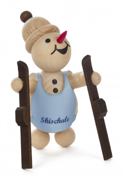 Dregeno Erzgebirge - Schneemann »Junior« Skianfänger – Guck in die Luft