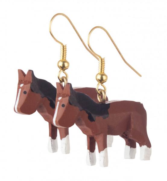 Dregeno Erzgebirge - Ohrringe »Pferd«