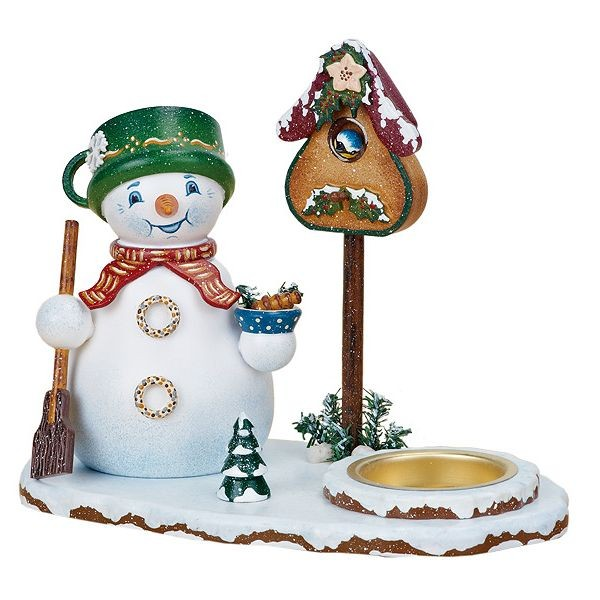 Hubrig Schneemannwichtel mit Teelicht