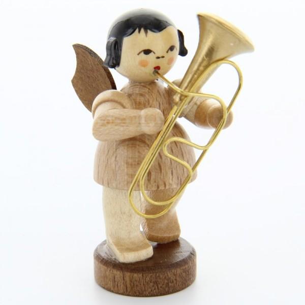 Uhlig Engel stehend mit Bariton, natur, handbemalt