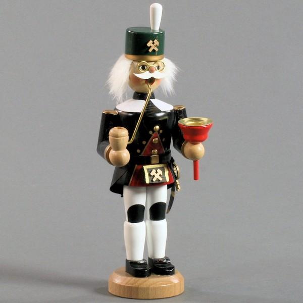 Dregeno Erzgebirge - Räuchermann Bergmann mit Kerzenhalter - 23cm